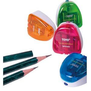 东洋(TOYO)SP240 三孔笔刨 铅笔刨 卷笔刀 削笔器  混色